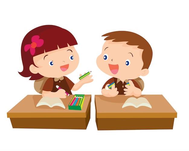 Étudiant fille mignonne donnant pour ami