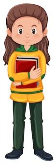 Une étudiante brune