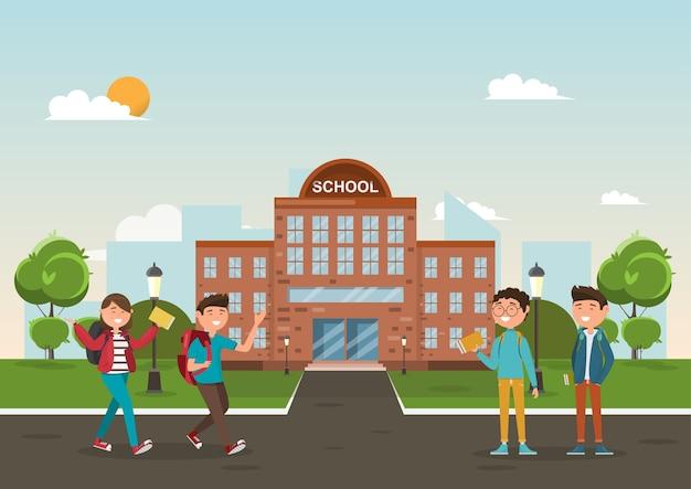 Les étudiants à l'école.