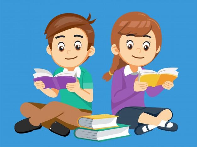 Les étudiants facilitent la recherche de connaissances avec un livre.
