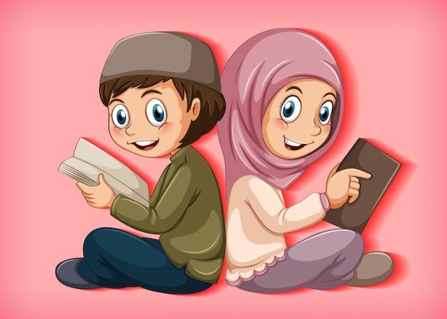 Étudiants lisant le livre