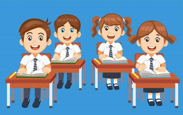 Les étudiants sont prêts à commencer la leçon en classe.