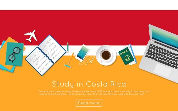Étudier au costa rica concept pour votre bannière web
