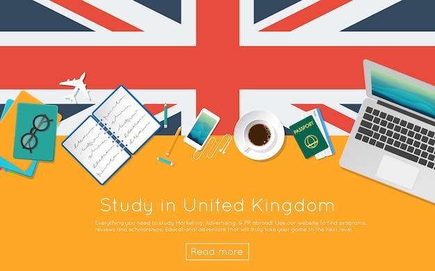 Étudier au royaume-uni concept pour votre bannière web