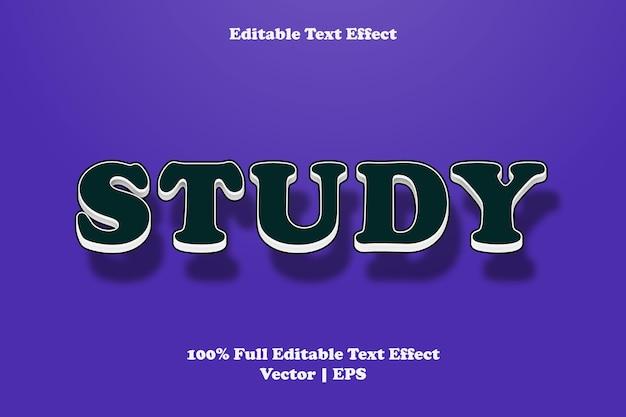 Étudier l'effet de texte modifiable