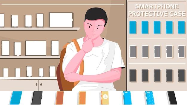 Etui de protection smartphone composition plate homme choisit un accessoire pour son téléphone