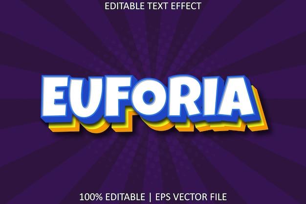Euphorie avec effet de texte modifiable de style superposé