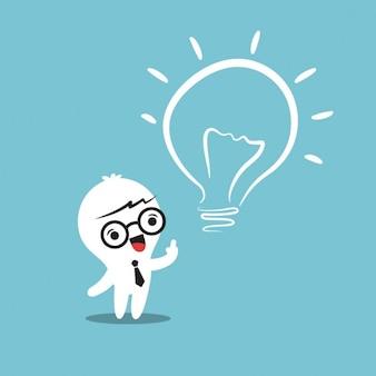 Eureka dessin animé idée lightbulb