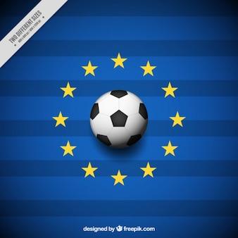 Euro 2016 background avec des étoiles