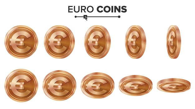 Euro 3d copper coins