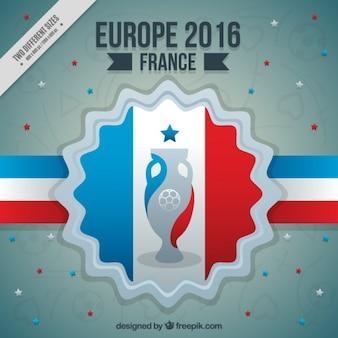 Eurocope 2016 fond avec un badge