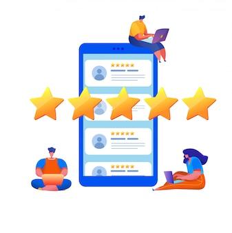 Évaluation des clients avec des étoiles