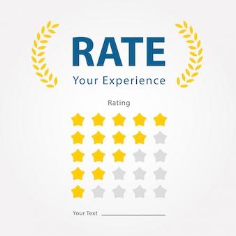 Évaluez votre expérience pour les commentaires sur les produits, les restaurants, les entreprises, les hôtels, les sites web et les applications mobiles.