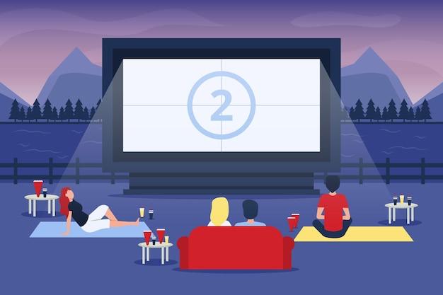 Événement cinéma en plein air