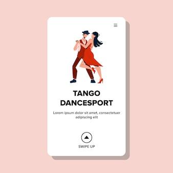 Événement de compétition sportive de danse de tango