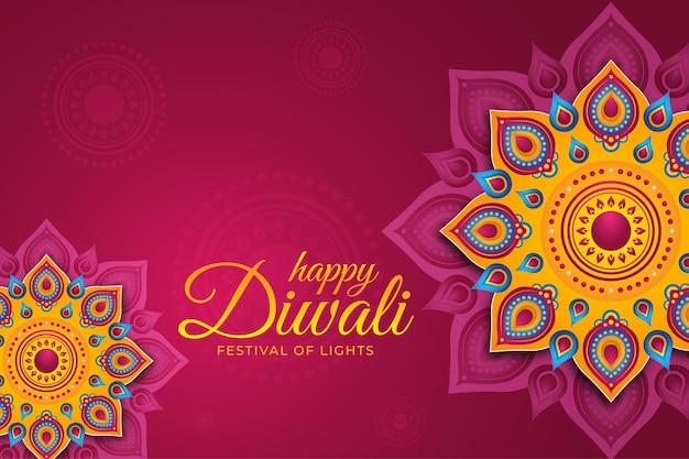 Événement diwali en style papier