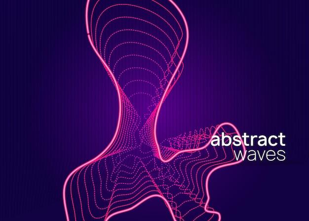 Événement dj. forme et ligne fluides dynamiques. modèle de couverture de discothèque lumineuse