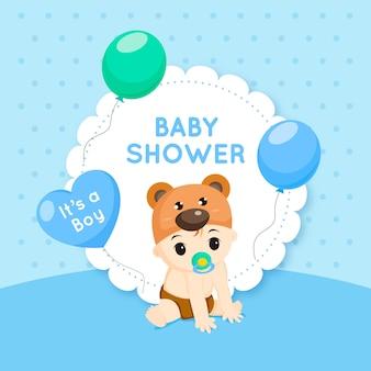 Événement de douche de bébé pour le concept de garçon