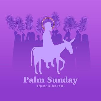 Événement du dimanche des palmiers dégradé