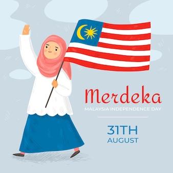 Événement de la fête de l'indépendance de la malaisie