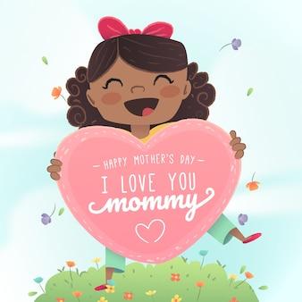Événement de fête des mères design plat