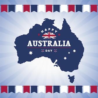 Événement de la journée de l'australie avec carte australienne