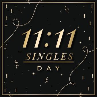 Événement de la journée des célibataires noirs et dorés
