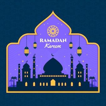 Événement de la journée du ramadan au design plat