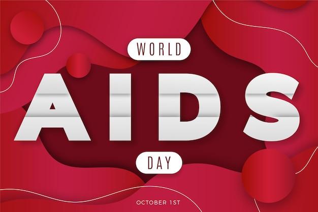 Événement de la journée mondiale du sida dans le style papier backgorund