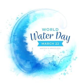 Événement de la journée mondiale de l'eau aquarelle
