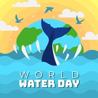 Événement de la journée mondiale de l'eau plate
