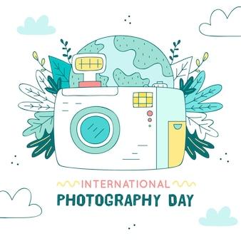 Événement de la journée de la photographie avec caméra