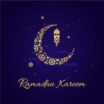 Événement ramadan design plat