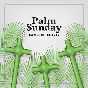 Événement réaliste du dimanche des palmiers