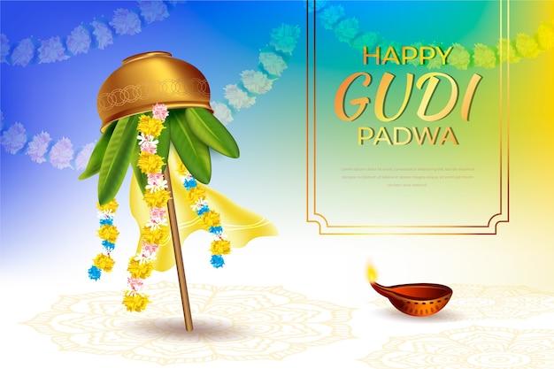 Événement réaliste de la journée gudi padwa