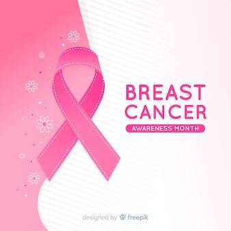 Événement de sensibilisation au cancer du sein avec un ruban réaliste