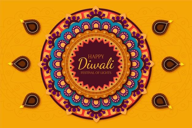 Événement spirituel diwali design plat