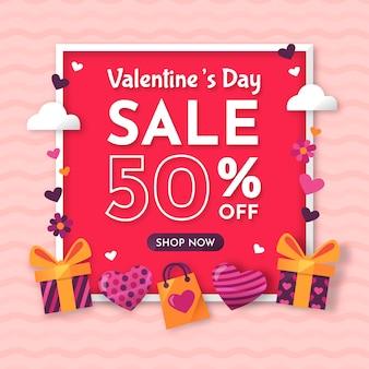 Événement de vente de la saint-valentin