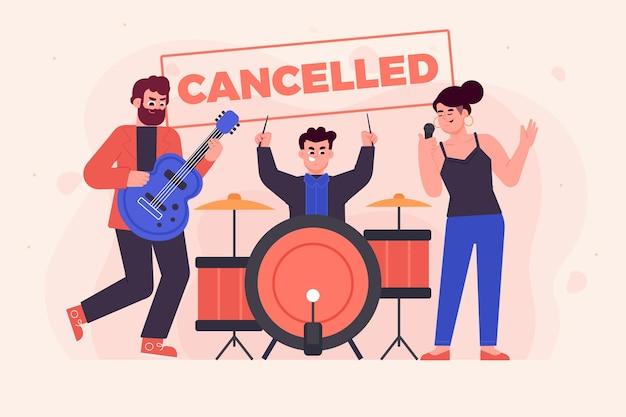 Événements musicaux annulés