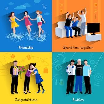 Événements spéciaux entre amis copains célébration et regarder la télévision