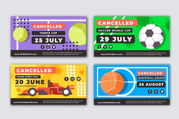 Événements sportifs annulés bannières