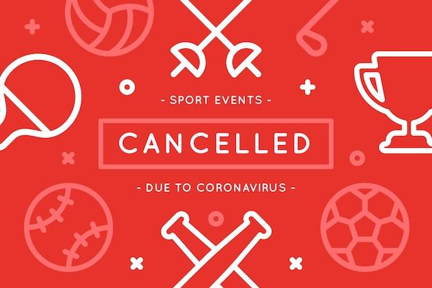 Événements sportifs annulés en raison d'un coronavirus