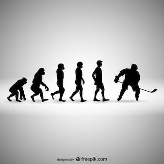 L'évolution de l'humanité de hockey