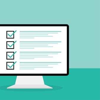 Examen en ligne sur vert