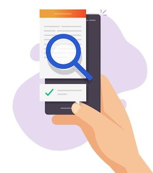 Examiner le contenu du texte d'expertise en ligne, l'analyse de la vérification des fichiers de documents numériques, l'analyse de l'inspection des articles