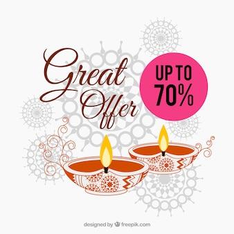 Excellente offre de diwali background