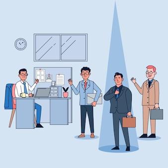 Excellents employés, dépassant les objectifs de vente, promettant un avenir prospère
