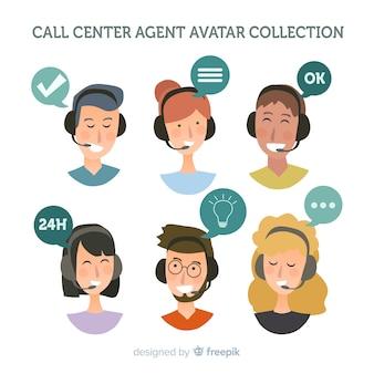 Exemple d'avatar du centre d'appels