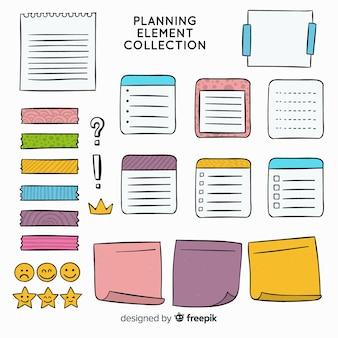 Exemple d'éléments de planification