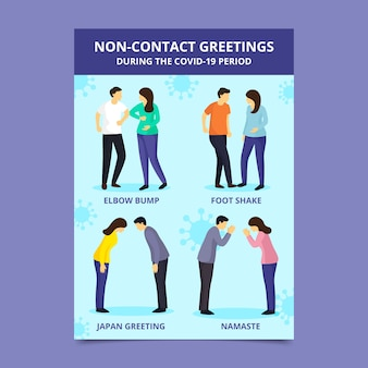 Exemple de salutations sans contact
